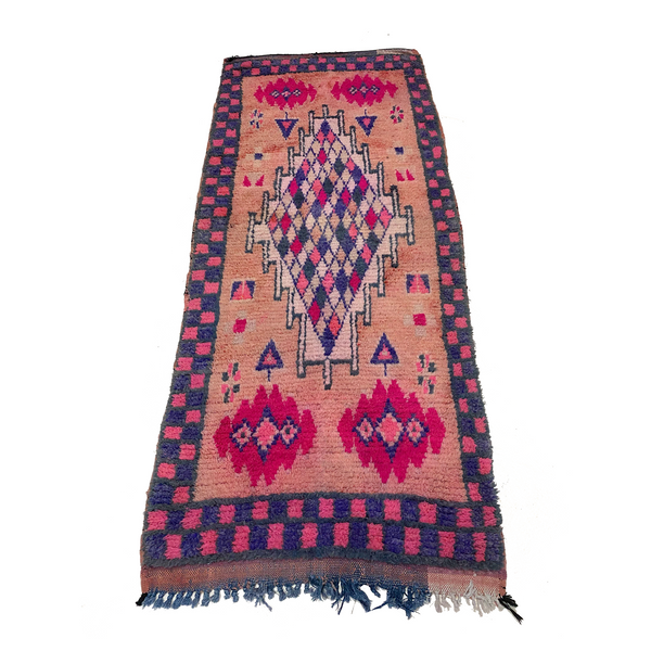 Pink and purple Moroccan entryway rug - Kantara | Moroccan Rugs