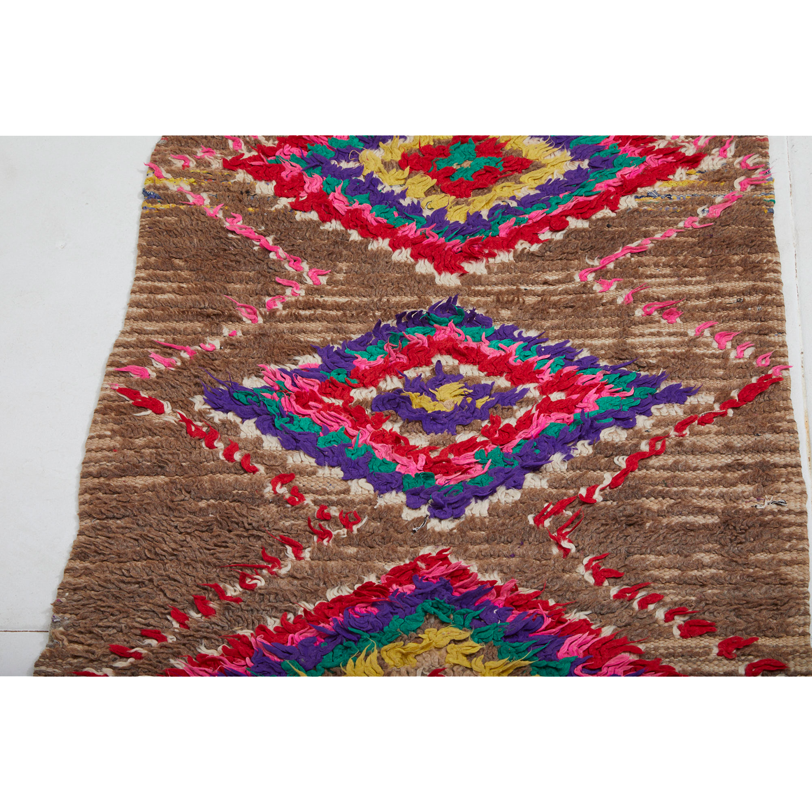 Contemporary brown berber runner rug - Kantara | Moroccan Rugs
