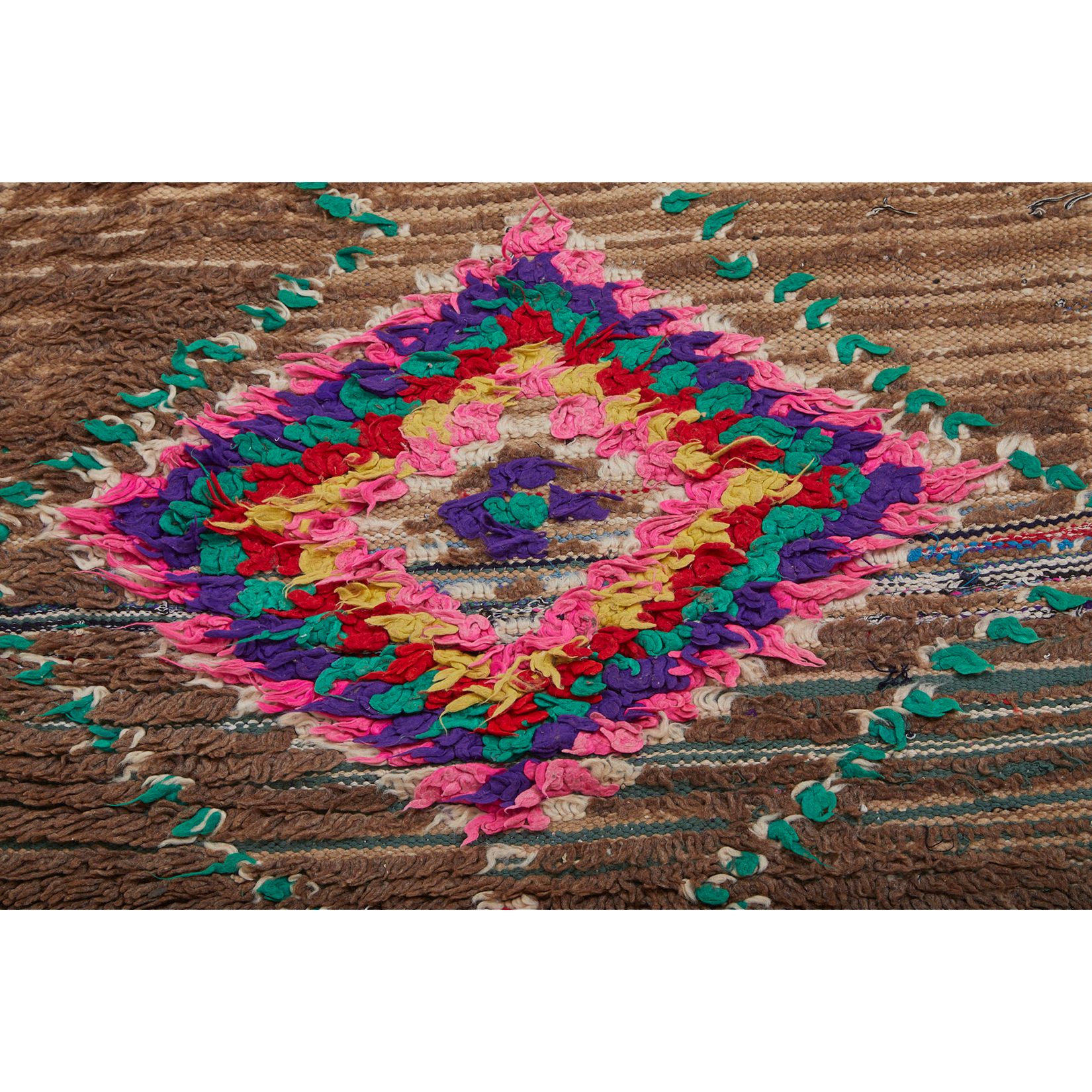 Authentic Moroccan rag rug with diamond motifs - Kantara | Moroccan Rugs