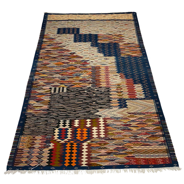 One of a kind blue Moroccan area rug - Kantara | Moroccan Rugs