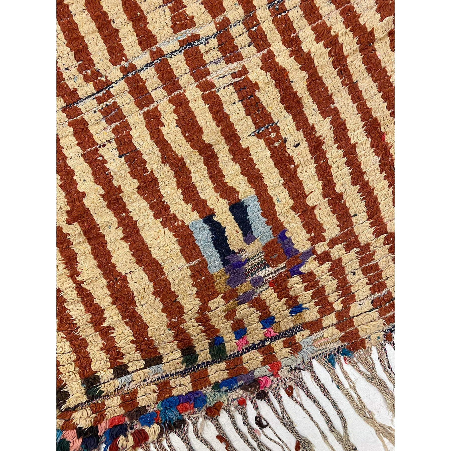 Wide Moroccan runner rug with striped pattern - Kantara | Moroccan Rugs