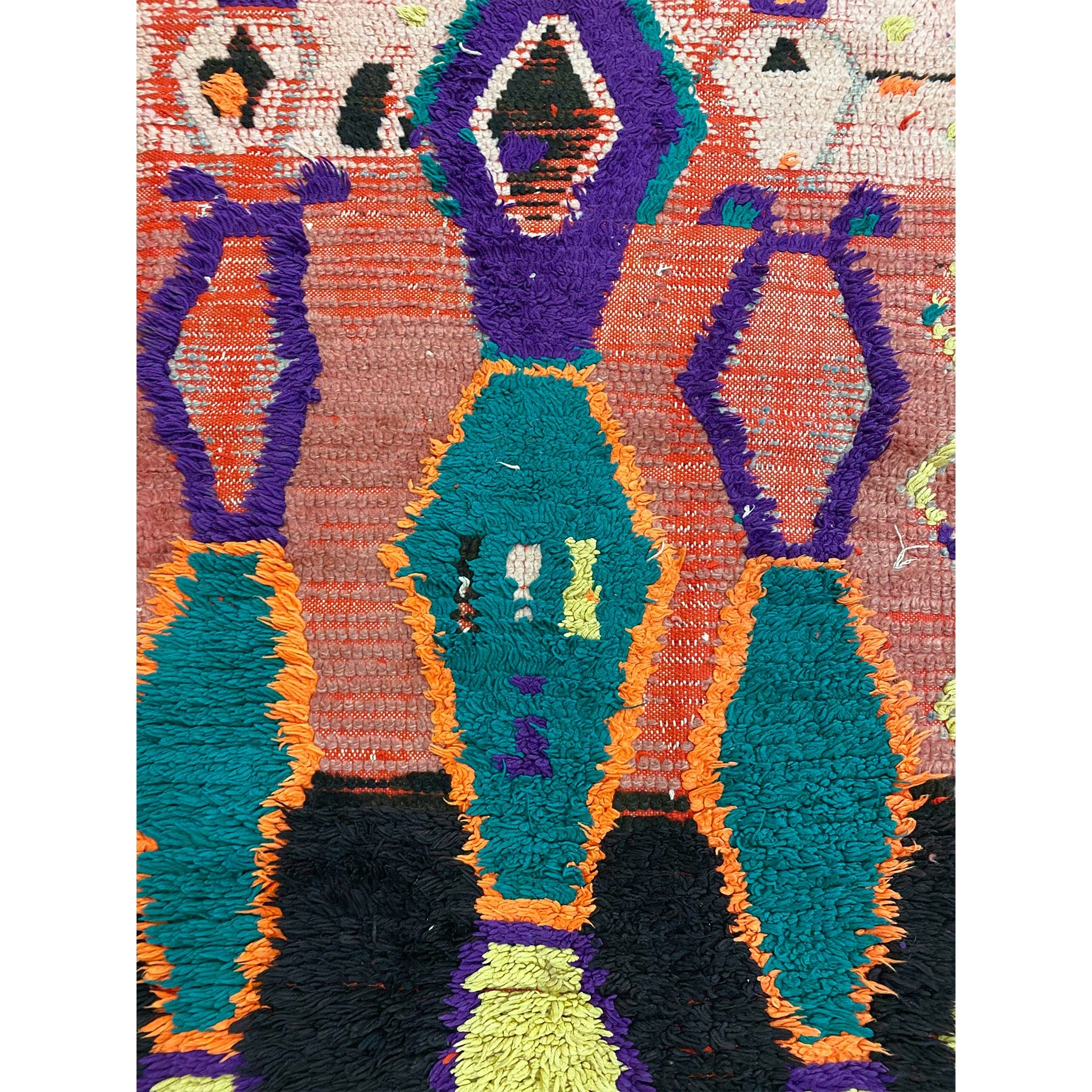Unique colorful Moroccan berber runner rug - Kantara | Moroccan Rugs