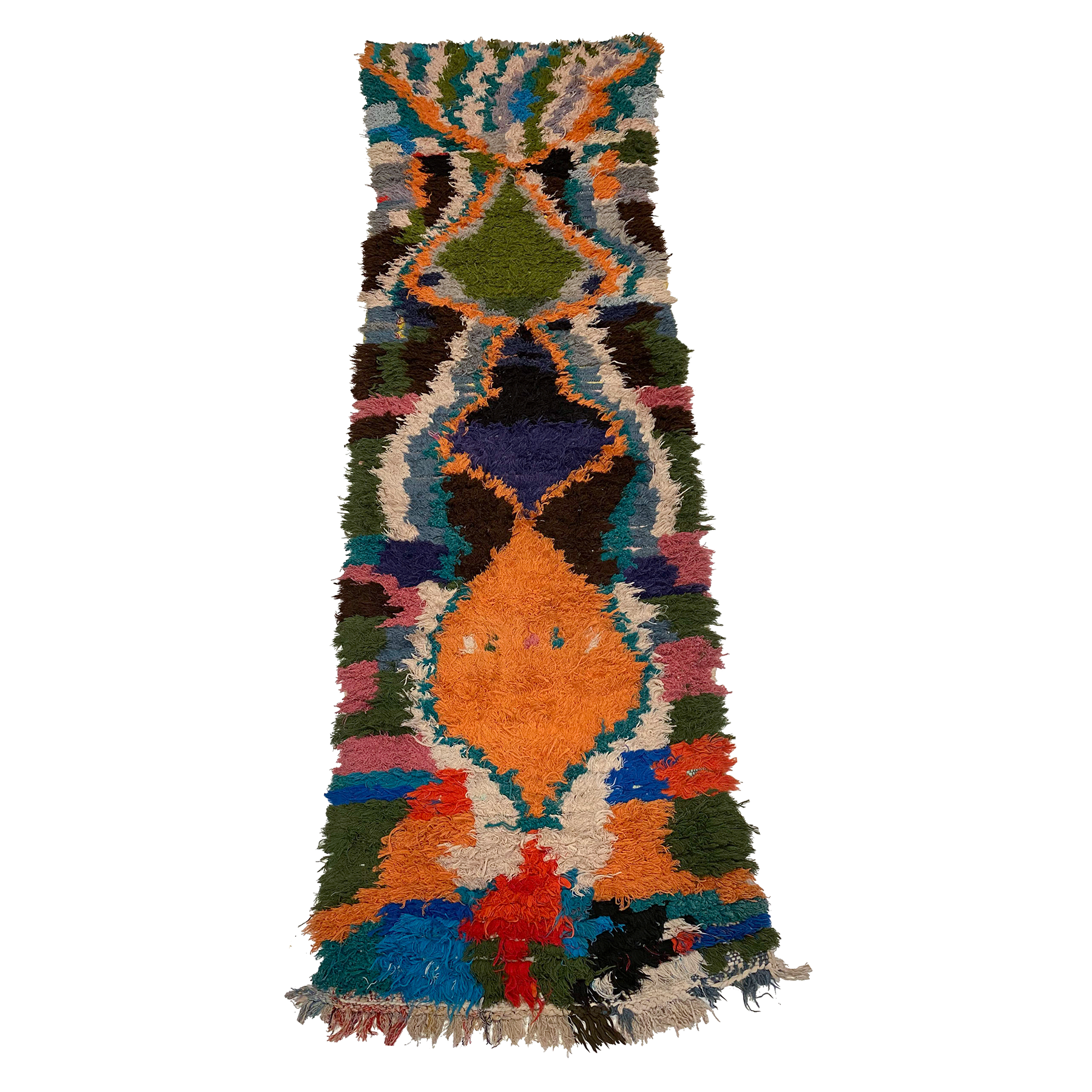 Colorful art deco Moroccan berber runner - Kantara | Moroccan Rugs