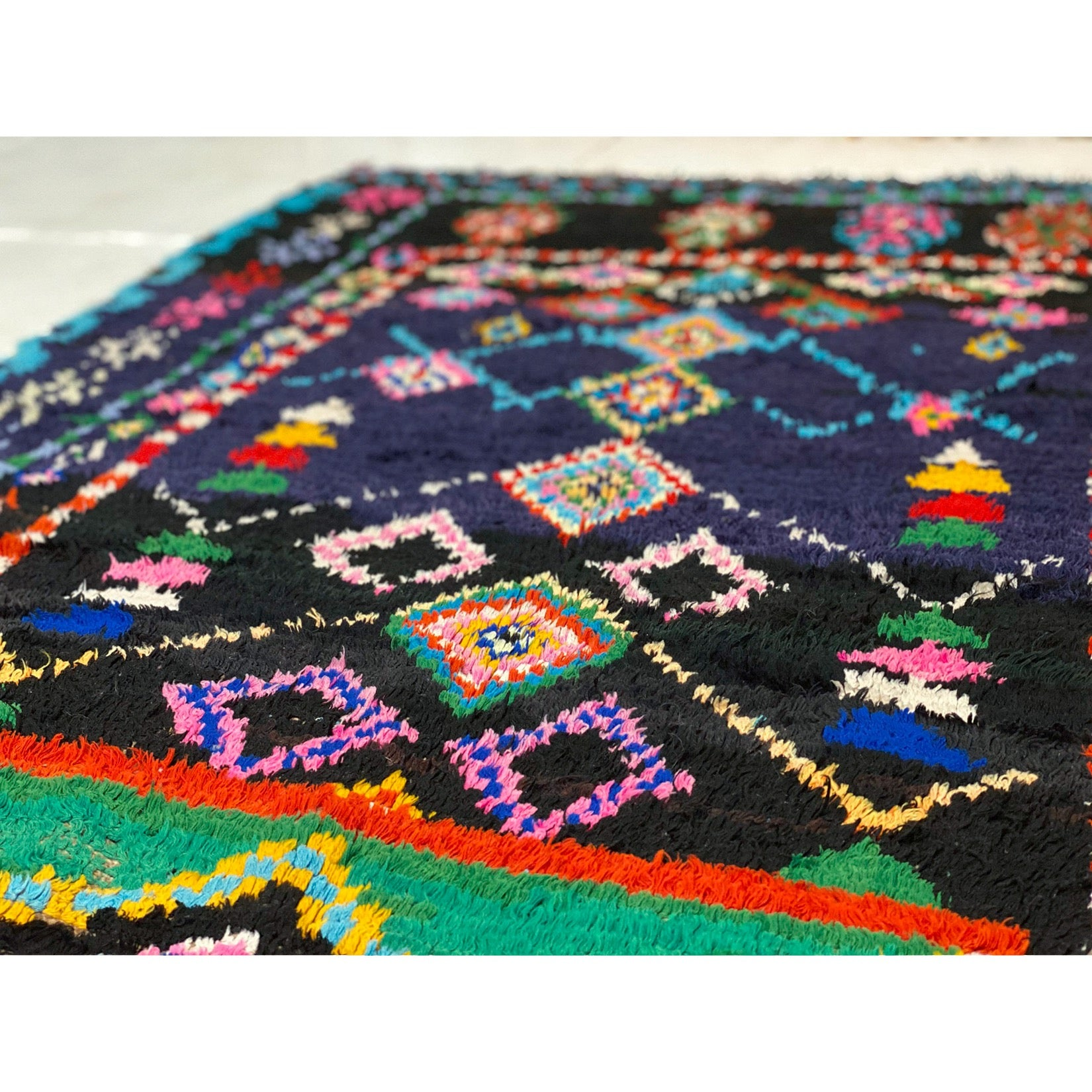 Colorful Moroccan playroom rag rug - Kantara | Moroccan Rugs