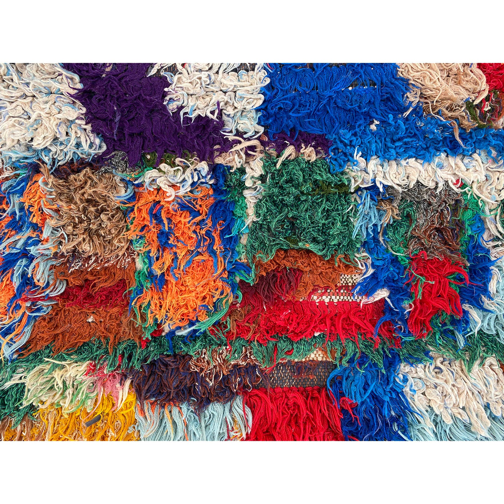 Colorful cotton Moroccan entryway rag rug - Kantara | Moroccan Rugs