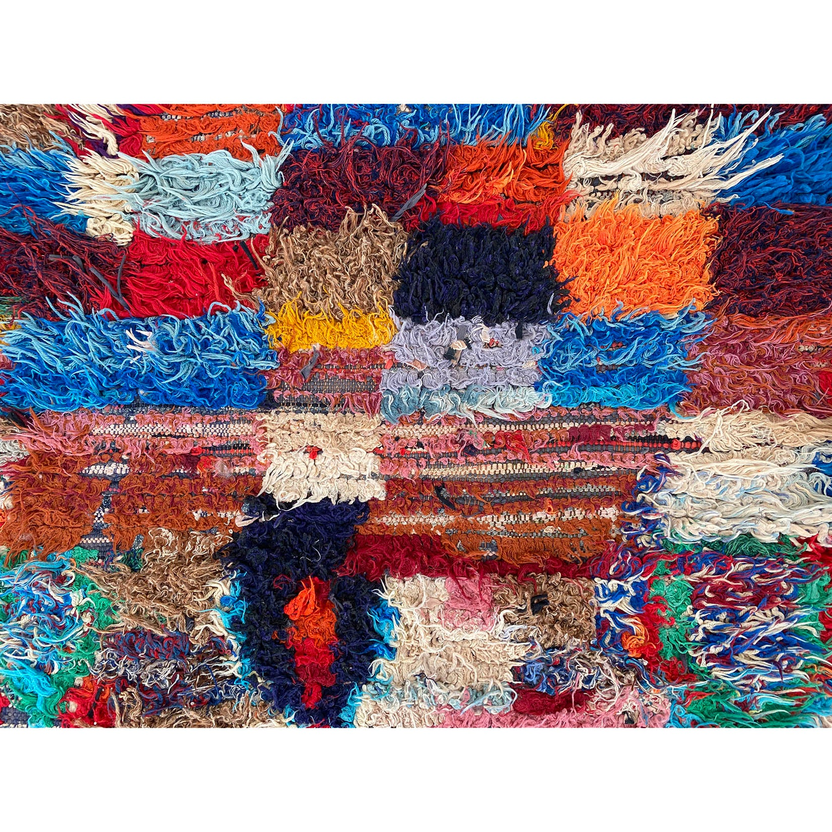 Medium sized colorful Moroccan berber rag rug - Kantara | Moroccan Rugs