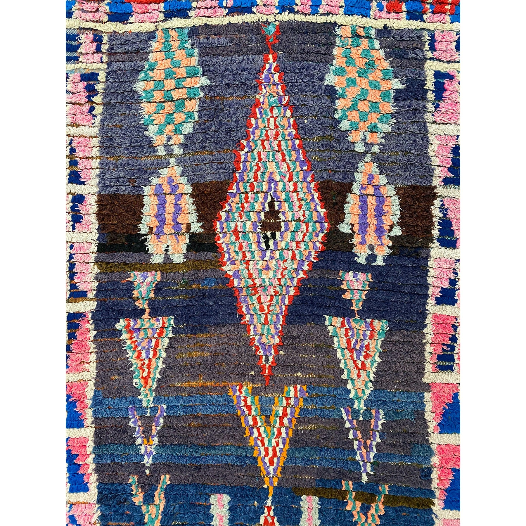Contemporary Moroccan rag rug with geometric design - Kantara | Moroccan Rugs