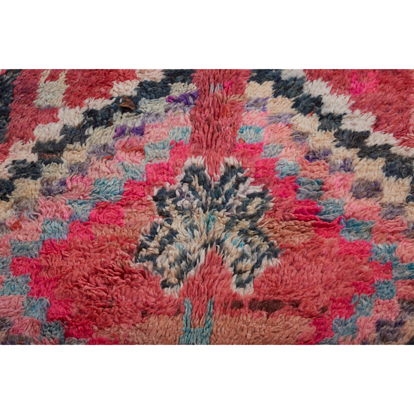Pink and red contemporary Moroccan rug - Kantara | Moroccan Rugs
