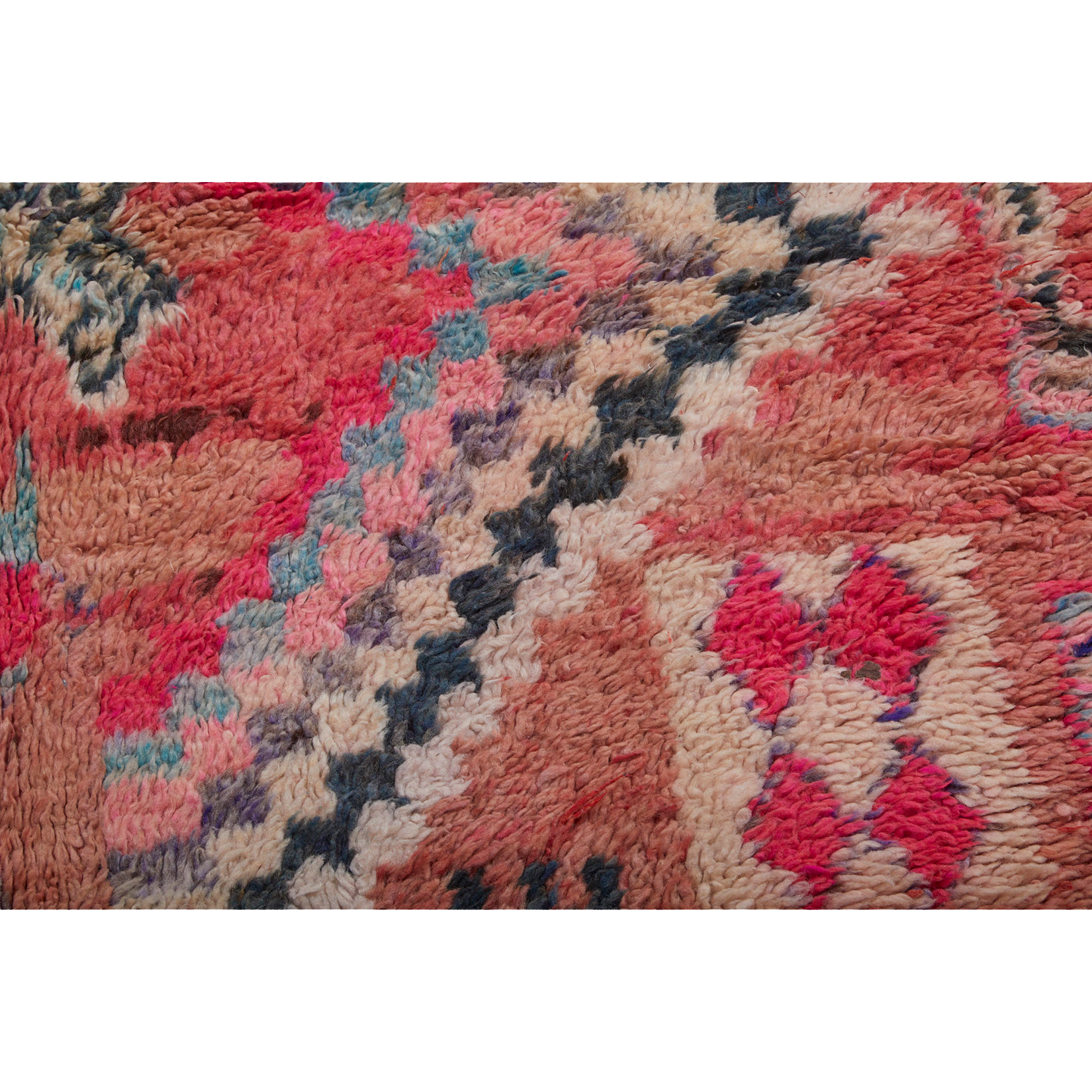 Geometric pink berber carpet with diamond motif - Kantara | Moroccan Rugs