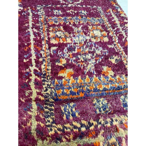 Purple tribal handknotted wool berber carpet - Kantara | Moroccan Rugs