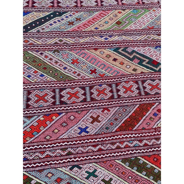 Colorful pastel flat woven Moroccan kids' room rugs - Kantara | Moroccan Rugs