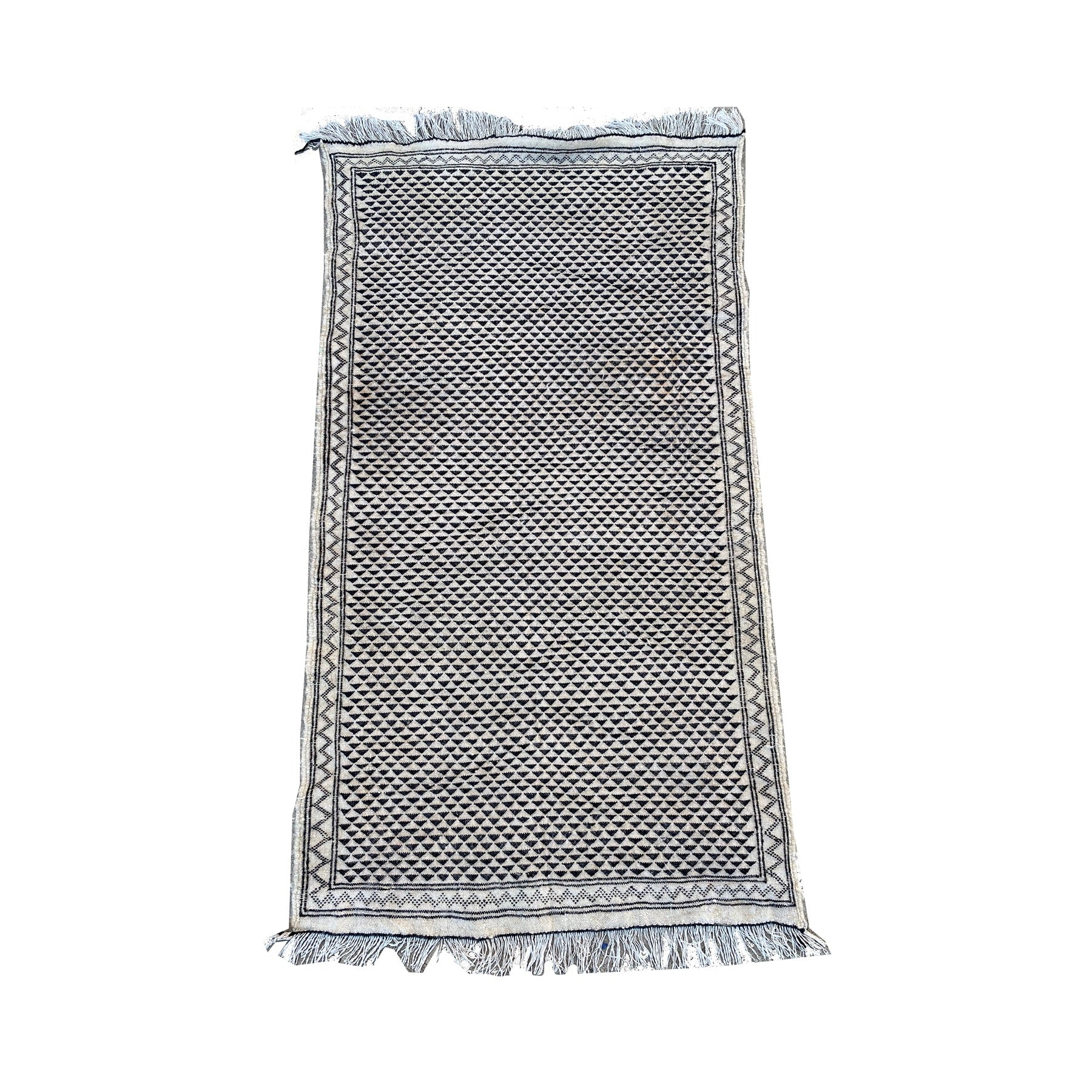 Black and white Moroccan flatweave throw rug - Kantara | Moroccan Rugs