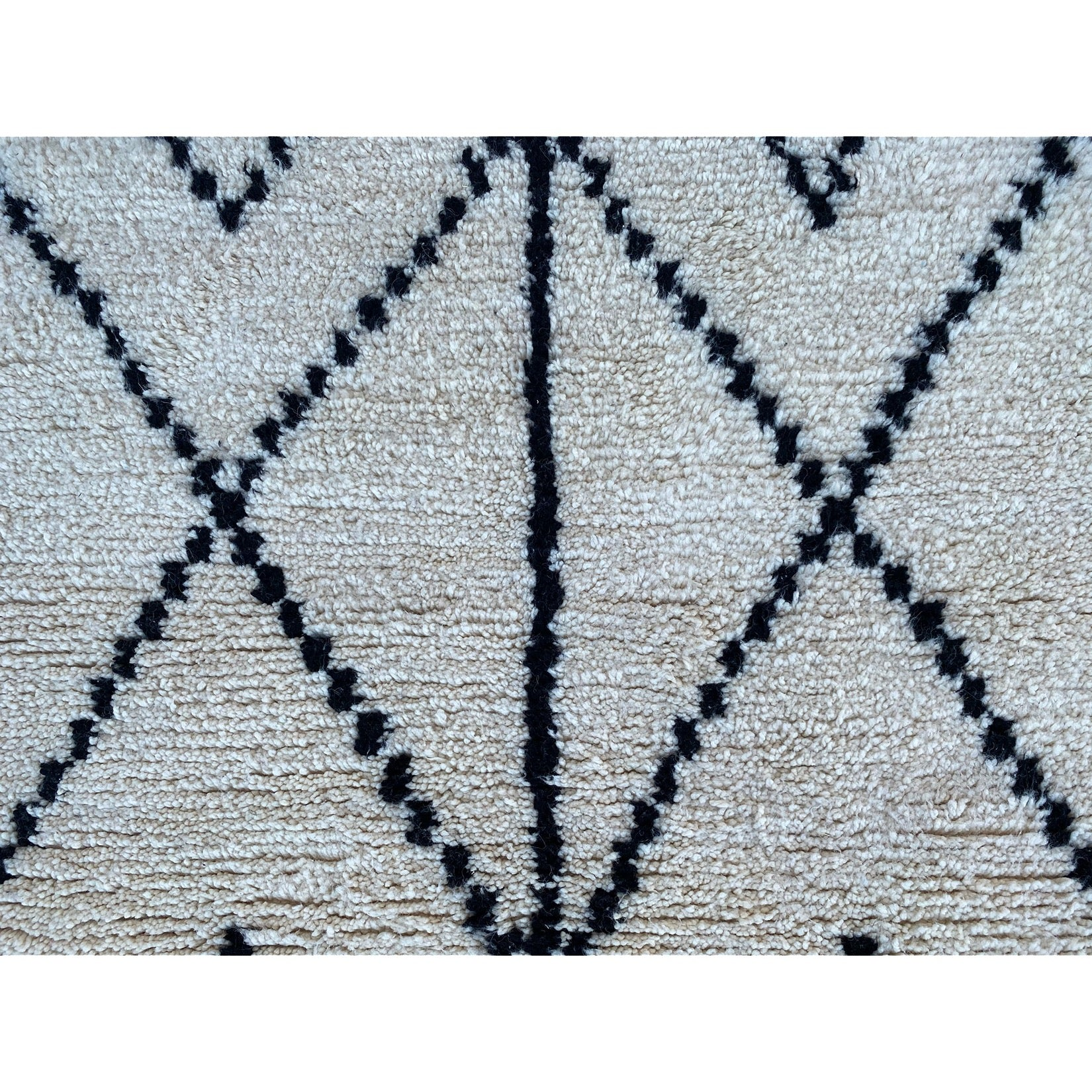 Cream colored handwoven Moroccan berber carpet - Kantara | Moroccan Rugs