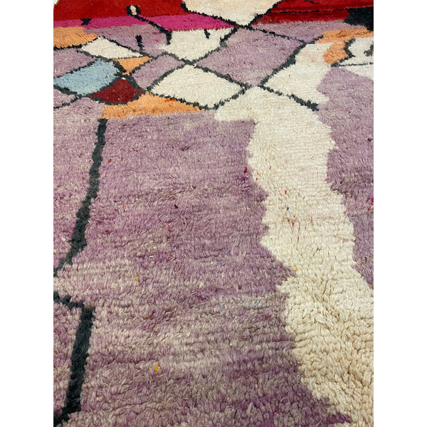 Abstract art deco Moroccan area rug with colorful details - Kantara | Moroccan Rugs