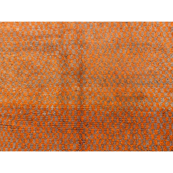 Hand knotted artisan made orange Moroccan berber carpet - Kantara | Moroccan Rugs
