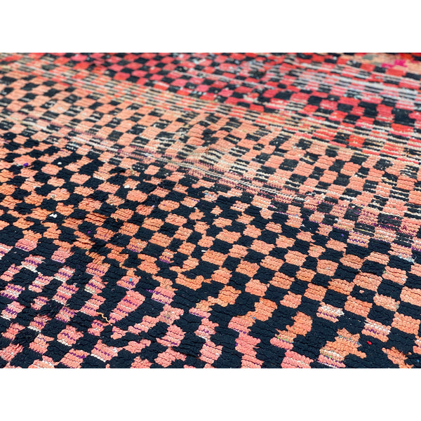 Faded red and pink wool Moroccan entryway rug - Kantara | Moroccan Rugs