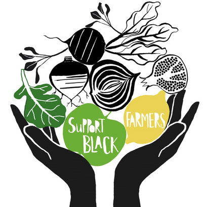Support Black Farmers illustration from Claudia Pearson