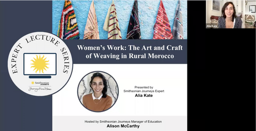 Women's Work: The Art and Craft of weaving in rural Morocco with Alia Kate for Smithsonian Journeys