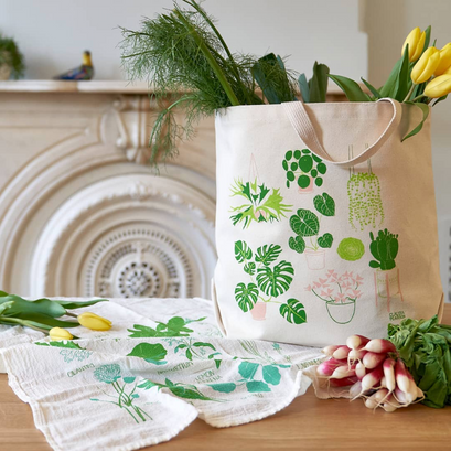 Tote bag and tea towel from Claudia Pearson