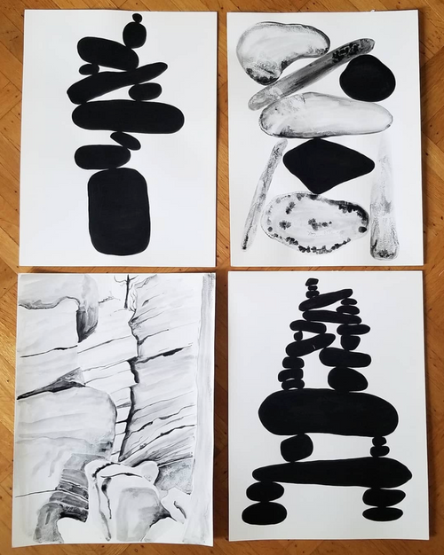 Painting studies from Claudia Pearson for Ebb + Flow line
