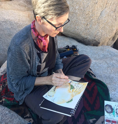 Claudia Pearson painting in upstate New York