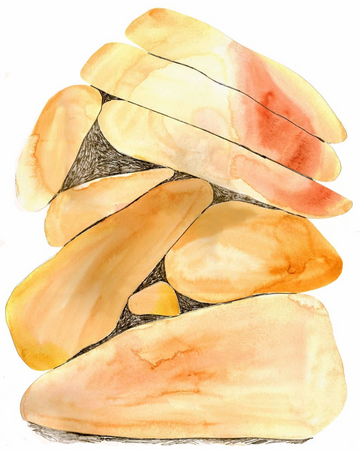 Rock art painting study from Claudia Pearson