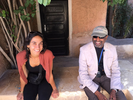 Alia Kate and Moroccan tour guide with Smithsonian Journeys Splendors of Morocco trip