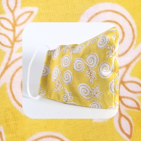 Clearance Mask - Yellow Swirls
