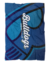 Load image into Gallery viewer, Corona Bulldogs Oversized Logo Fluffy Microfleece Throw Blanket product image