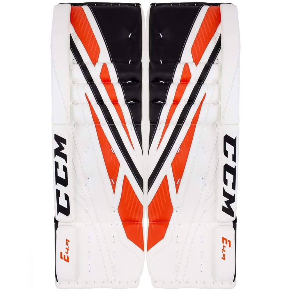 CCM Extreme Flex E4.9 Goalie Leg Pads - Black/Orange (Mock Product)