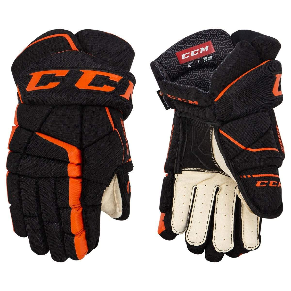 CCM Tacks 9060 Junior Hockey Gloves - Black/Orange (Mock Product)