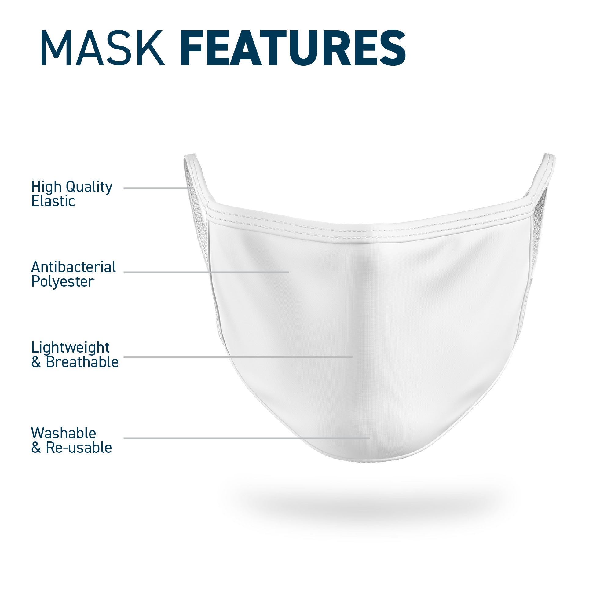 Printed Antibacterial Face Mask - Overcome Together