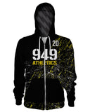 949 Athletics - Splatter Zip Up Hoodie