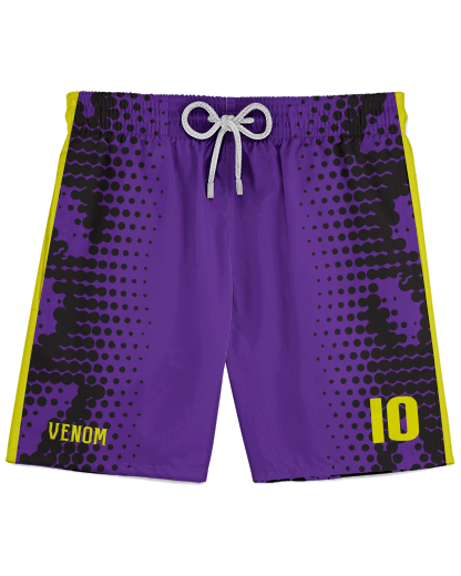 SJVenom Snakeskin Purple Athletic Shorts
