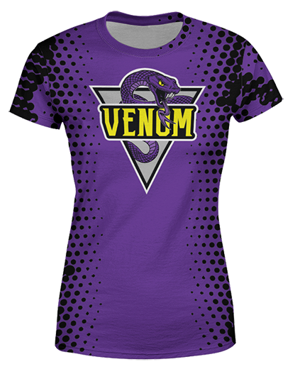 SJVenom Snakeskin Purple Womens T shirt product image