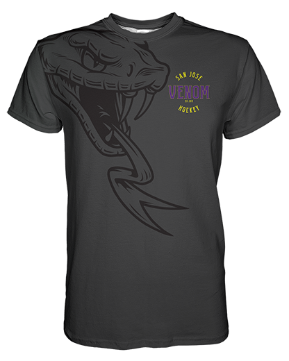 SJVenom Ghosted Grey Mens T shirt product image
