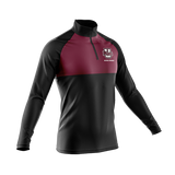 UMass Maroon Color Block QtrZip Jacket product image