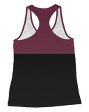 UMass Maroon Color Block Womens Racerback Tank product image