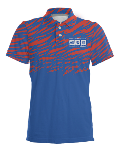 USYVL Striped Polo Shirt product image