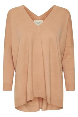 Peach Knitwear with V neck