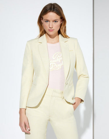 Reiko Blazer Brune - Yellow Diamond