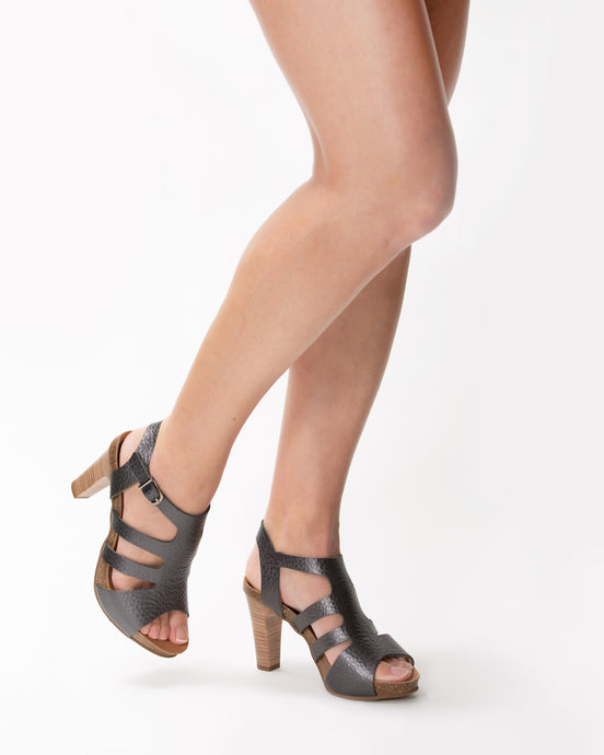 Treva Black Metallic - European Heels
