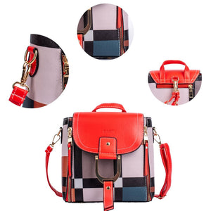 DASTI Mini Convertible Backpack small purse for women, Red