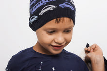 Load image into Gallery viewer, DASTI Infant Organic Cotton Knit Hat for Toddler Boy, Navy Blue