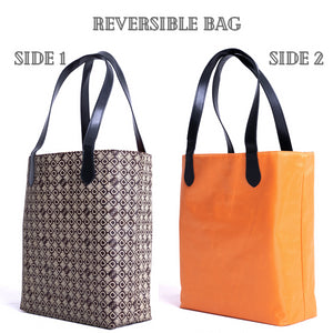 DASTI Double-sided Reversible Big Top Handle Tote For Women Monogrammed