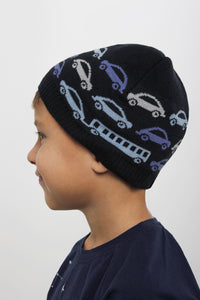 DASTI Infant Organic Cotton Knit Hat for Toddler Boy, Navy Blue