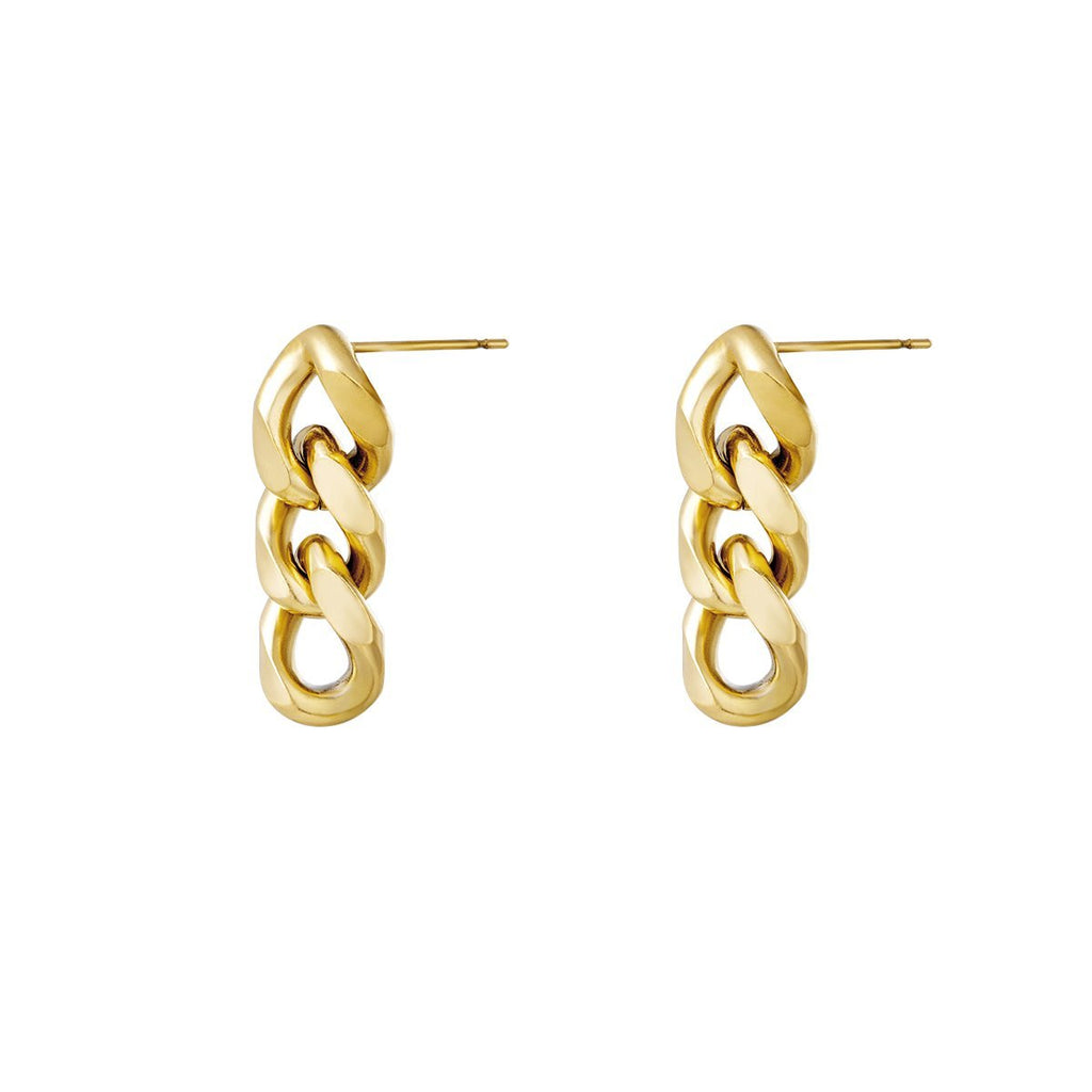 Triple Chain Earrings freeshipping - Mintsy