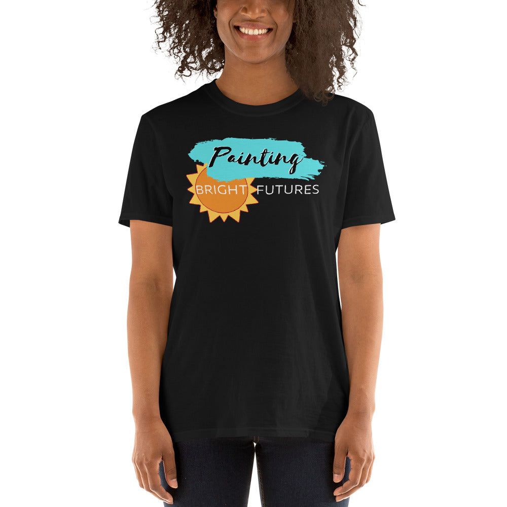 Painting Bright Futures  Unisex Teacher T-Shirt
