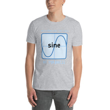 Load image into Gallery viewer, Math puns are the first sine of madness Unisex Teacher T-Shirt