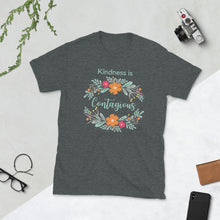 Load image into Gallery viewer, Kindness is Contagious Unisex Teacher T-Shirt